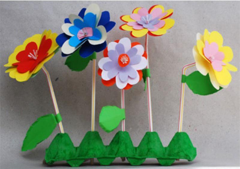 Поделки цветов в детском